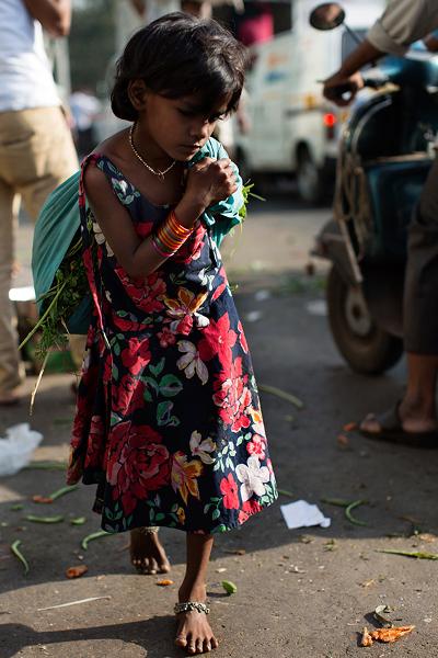 On the Street….Morning Flower Market, Mumbai